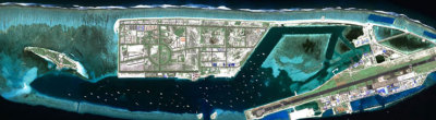 Hulhumalé is an entirely artificial island claimed over the reef flat and includes the main airport @ HDC